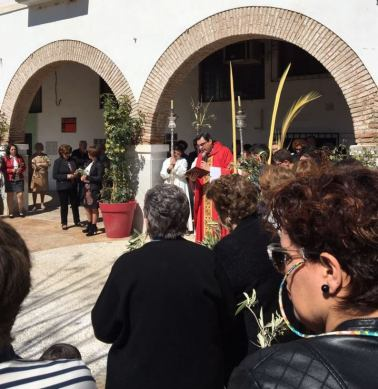Domingo de Ramos 2017 Dalías Plaza S. Juan Pablo II Bendición blog